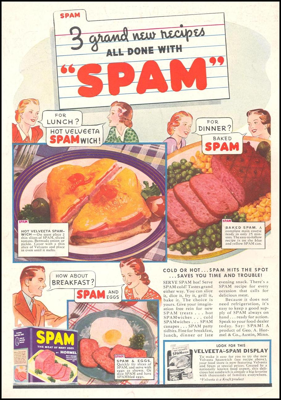 1938 Spam advertisement from the Gallery of Graphic Design